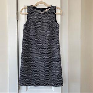 Loft Navy Herringbone Shift Dress